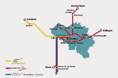 Le réseau TGV en Belgique (version 2013)