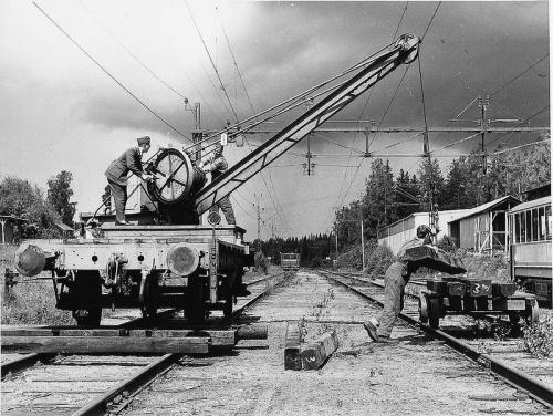 Le chemin de fer d'une certaine époque, ici en Norvège (par Tekniska museet via Flickr CC-BY-2.0)