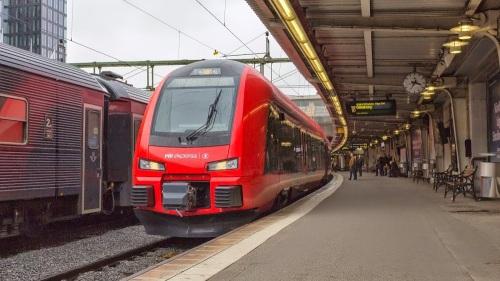 Le premier service de MTR au départ à Göteborg (photo de arskortguldsj.wordpress.com)