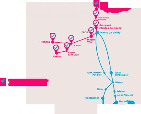 Le réseau au début 2016