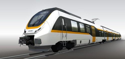 Evocation de la future Talent 3, l'automotrice 'continentale' de Bombardier (photo Bombardier)