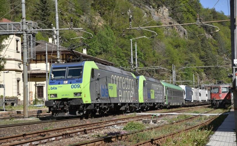 Petite chute du trafic ferroviaire dans les Alpessuisses