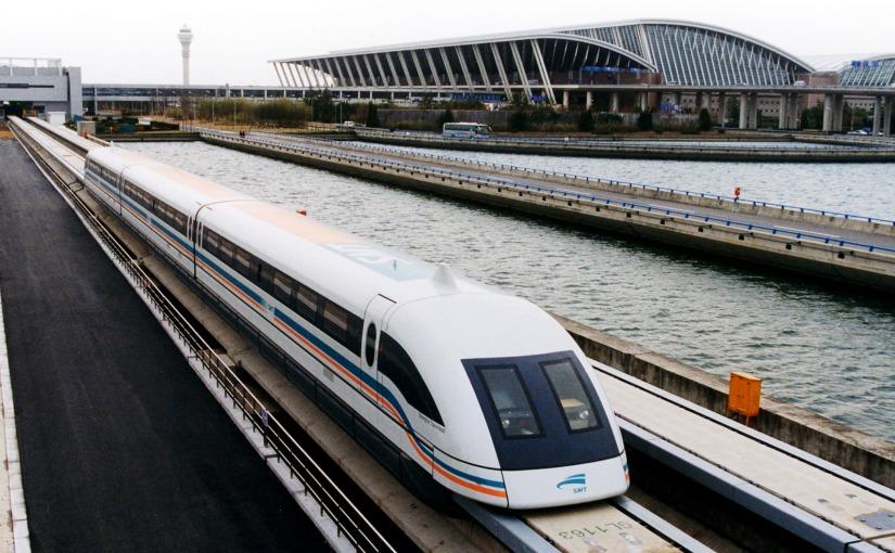 Et si on parlait du train à sustentation magnétique?
