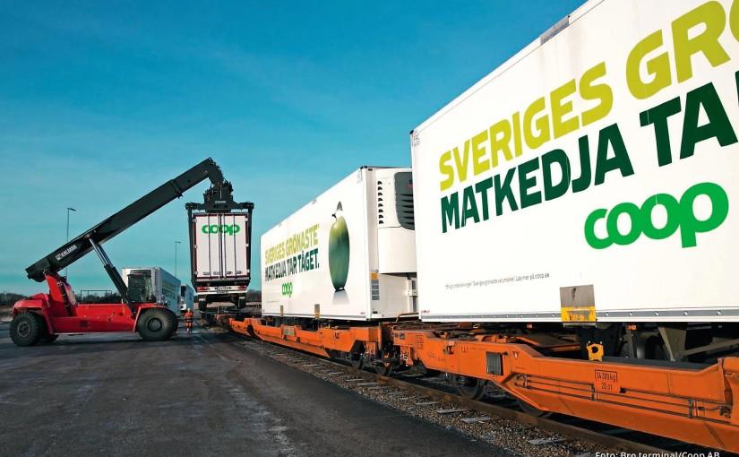 Transfert route-rail, camions longs, la Suède veut être climatiquement neutre avant2045